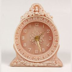 Beautiful Incolay Pink clock