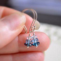 Blue Topaz Earrings Sterling Silver Jewelry by livjewellery