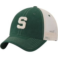Michigan State Spartans Zephyr Sideout Meshback Slouch Trucker Adjustable Snapback Hat - Green - $22.99