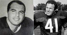 """Brian Piccolo, NFL player with the Chicago Bears, best known for his friendship with Gale Sayers and the positive impact it had on race relations.  Sean Caan in the TV movie """"Brian's Song""""."""