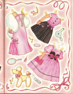 Here is a two page magazine paper doll from Doll Reader October 2008.. This one features Toni doll, which was related to hair products...