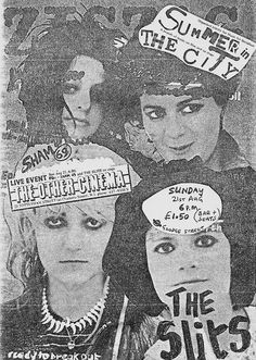 The Slits & Sham 69 at The Other Cinema. 1977