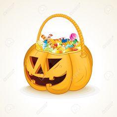 Tricks Or Treats Halloween Jack O Lantern Vector Illustration ...