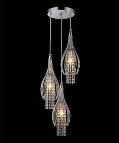 Love this Crystal Trio Pendant Light on #zulily! #zulilyfinds