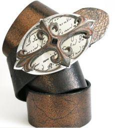 Umjubelt Ledergürtel - Vintage metall kupfer -  Mehr unter:  http://birtekaiser-mode.de/de/detail/index/sArticle/200/sCategory/3