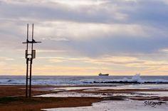 Platja de Vilanova i la Geltrú - La torre de vigía situada a una de les platges de Vilanova i la Geltrú (Garraf-Barcelona).