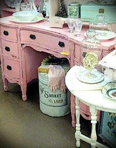 My repurposed pink furniture
