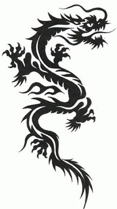 black japanese dragon tattoo - Google Search                                                                                                                                                                                 More