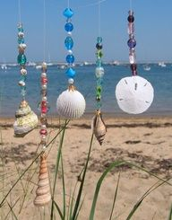 Great way to make something with my beads and shells!