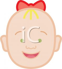 Royalty Free Clipart Image of a Happy Baby Face