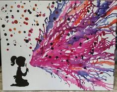 Items similar to melted crayon art on Etsy - Etsy :: Your place to buy and sell all things handmade Best Picture For crafts for girls For Your - Wax Crayon Art, Wax Crayons, Melting Crayons, Melted Crayon Crafts, Art For Kids, Crafts For Kids, Arts And Crafts, Diy Crafts, Art Plastique