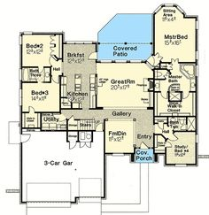 Plan 48540FM: French Country Home Plan With Optional Bonus Room