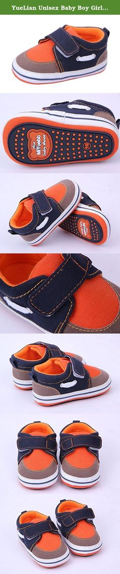 YueLian Unisex Baby Boy Girl Walking Sneaker Toddler Kids Soft Prewalker Shoes (Outsole Length 5'', Orange). Material: Cotton cloth Size: Outsole Length 4.2'', Outsole Length 4.6'', Outsole Length 5'' Notes: 1. Color: Due to lighting effects, monitor's brightness / contrast settings etc, there could be some slight differences in the color tone of the pictures! 2. Size: Manual measuring, please allow 1-2cm error. .