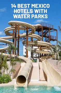We put together a list of 14 amazing Mexico hotels with one of the most coveted amenity for families traveling with kids: water parks. All Inclusive Family Resorts, Cancun Resorts, Mexico Resorts, Best Resorts, Hotels With Water Parks, Coba Mexico, Romantic Beach Getaways, Moon Palace Cancun, Mexico Travel