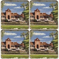 """Marble Coasters featuring """"Fountain at Old Main"""". Sold individually or as a set of four. First University, University Of Arizona, Marble Coasters, Medical Center, Coaster Set, Fountain, Diana, Water Fountains, Coasters"""
