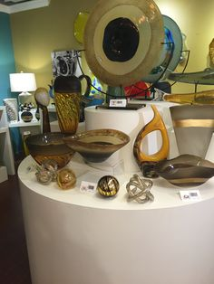 Viz Art Glass Showroom with products designed by Jeanette Patterson