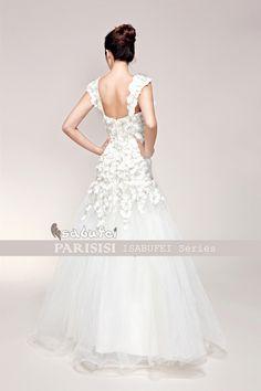 2012 Nuevo Bordado Cuentas flash Diamante waist fishtail vestidos de novia bridal gown Estilo