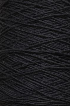 Thin Felted Wool Yarn in Black