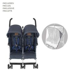 Maclaren Denim Twin Triumph Stroller Indigo ** You can get additional details at the image link. (This is an affiliate link) Baby Doll Strollers, Twin Strollers, Double Strollers, Twin Pram, Pink Prams, Best Prams, Best Lightweight Stroller, How To Have Twins, Twin Babies