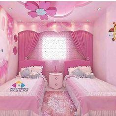 Pembeye bogayım mı sizi 🤭😂 zevkler ve renkler tartısılmaz tabi ki ama bu biraz fazla sanki 🙈 . Kids Bedroom Designs, Room Design Bedroom, Small Room Bedroom, Kids Room Design, Bedroom Decor, Bed Room, Little Girl Bedrooms, Pink Bedrooms, Baby Girl Room Decor