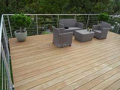 Lame De Terrasse En Bois Composite Elegance Lisse Silvadec Gris Anthracite 138x23x4000mm
