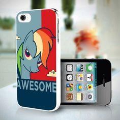 Rainbow Dash Unicorn Obey design for iPhone 5 case