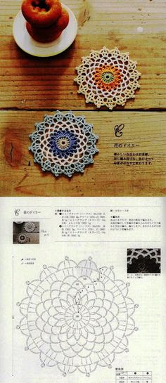 Lacy Doilies - Simple pattern that would work quickly. Perfect for a crocheted dream . - Diy project - Lacy Doilies – Simple pattern that would work quickly. Perfect for a crocheted dream … # Doili - Mandala Au Crochet, Crochet Doily Patterns, Crochet Diagram, Crochet Chart, Crochet Doilies, Crochet Flowers, Dream Catcher Crochet Pattern, Mandala Motif, Beau Crochet