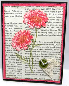 Stampin' Up! card with flowers