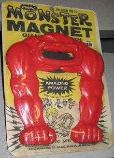WHAM-O: 1965 Monster Magnet #Vintage #Toys