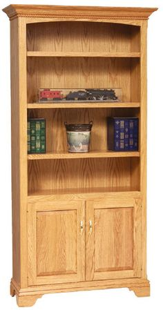 Custom Amish Stockton Bookcase With Doors High X 40 Wide Deep FEATURES Plywood Sides Shelves Raised Panel On The Bottom Please See Our Finish