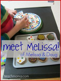 meet THE melissa of melissa & doug! (and a quick twitter how-to!)  TWITTER PARTY HOW-TO!!