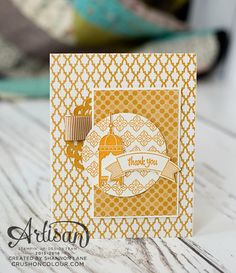 Moroccan Nights makes classy monochromatic cards! Eid Greetings, Eid Cards, Thanks Card, Stampin Up Catalog, Beautiful Handmade Cards, Card Making Techniques, Card Maker, Stamping Up, Greeting Cards Handmade