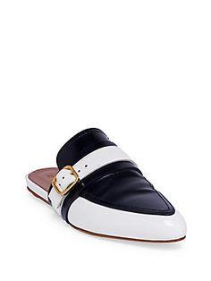 Marni Bi-Color Leather Slides