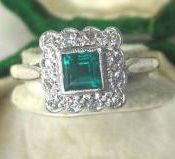 square emerald jewelry like my great grandmother's