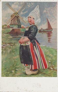 Vintage Postcard ~ Volendammer Meisje