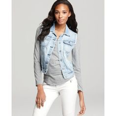 Ag Adriano Goldschmied Vest - The Heather Easy Denim In Dixon ($198) ❤ liked on Polyvore