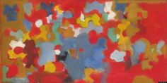 John Grillo, Untitled, 1953, oil on canvas. This artist was one of the many students of Hans Hofmann who went on to become reputable professional artists on their own merits.