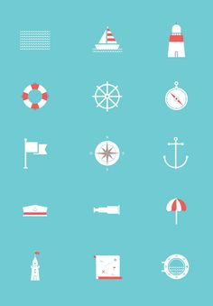 A free vector set of 15 sea related icons. Available to download in vector EPS format. - posted under Icons tagged with: EPS, Flat, Free, Graphic Design, Icon, Resource, Vector by Fribly Editorial
