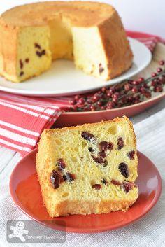 Ultra Moist and Soft Low Fat Reduced Sugar Cranberry Yogurt Chiffon Cake