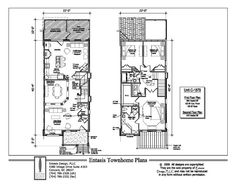 1000 images about townhouse on pinterest floor plans for 4 unit townhouse plans