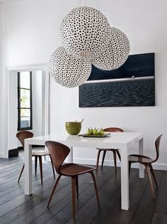 Great patterned overhead lamps.