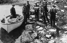 Tour Scotland Photographs: Old Photograph Crofters Moving Sheep By Boat Isle Of Skye Scotland