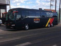 Matte Black Volvo 9700 Bus  .Chicago