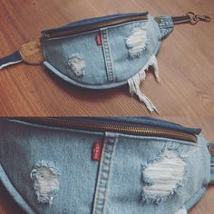 « it s all in the details every fanny is hand made from scratch madeinlosangeles levi fannypack bumbag fanny pack denim Diy Jeans, Jeans Refashion, Levis Jeans, Artisanats Denim, Denim Purse, Jean Diy, Denim Ideas, Denim Crafts, Recycled Denim