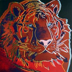 Andy Warhol Endangered Species Tiger