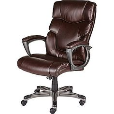 Staples 28360 Tarington Bonded Leather Managers Chair Brown