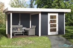 Abri Jardin Bois Lounge 3 avec extension - WEKA