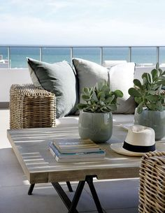pots, plants, table, sofa , cushions - love them all
