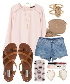 """""""Do forget to remember me"""" by jadenriley21 on Polyvore featuring Rebecca Minkoff, MANGO, Steve Madden, Yves Saint Laurent and Kendra Scott"""