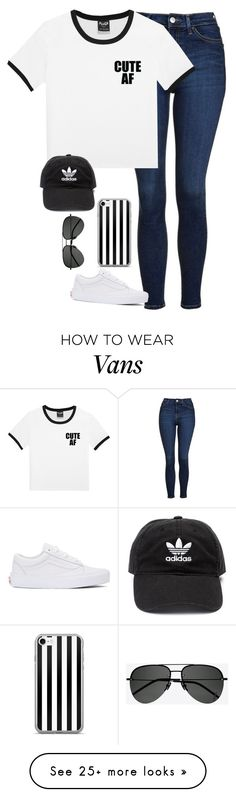 """*say what you mean, tell me I'm right*"" by randagirl-1 on Polyvore featuring Topshop, Vans, adidas and Yves Saint Laurent"